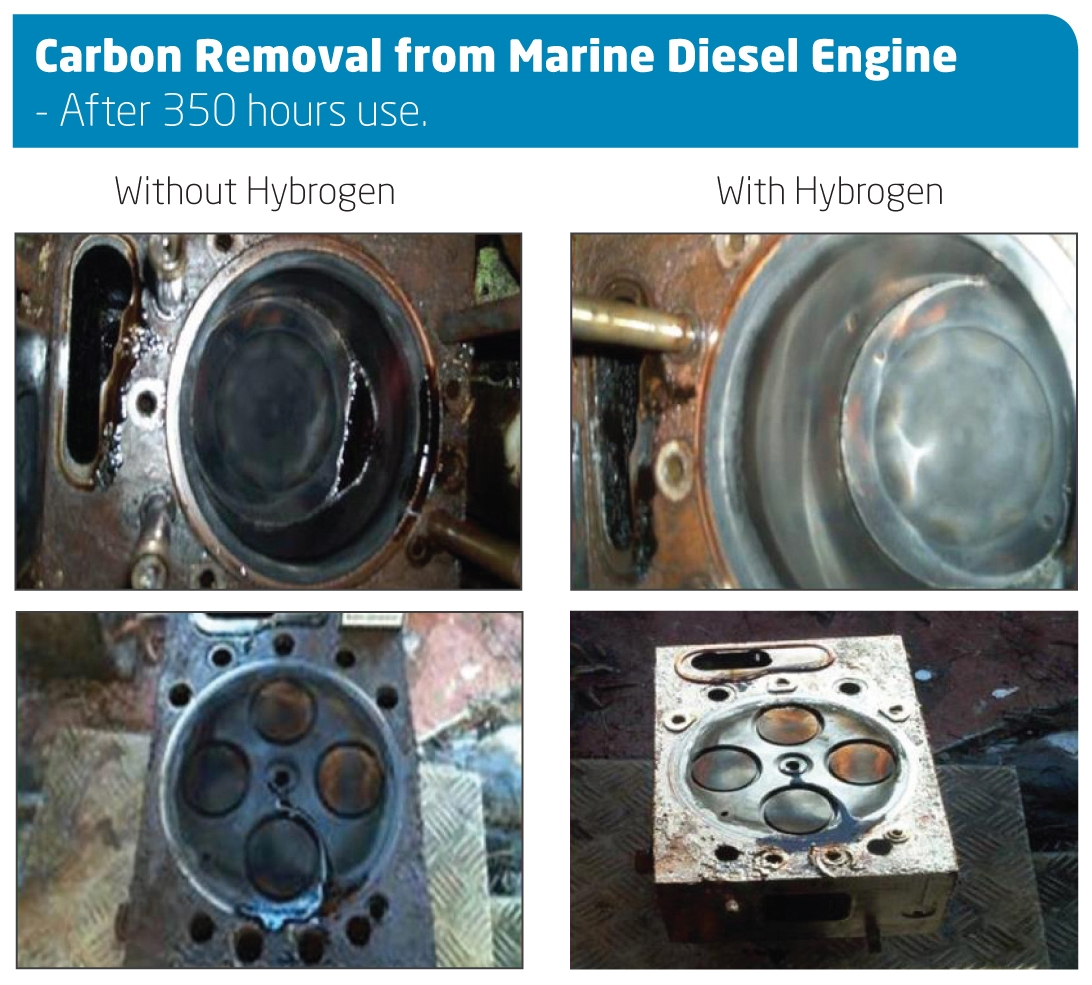 Carbon Removal from Marine Diesel Engine - After 350 hours use.